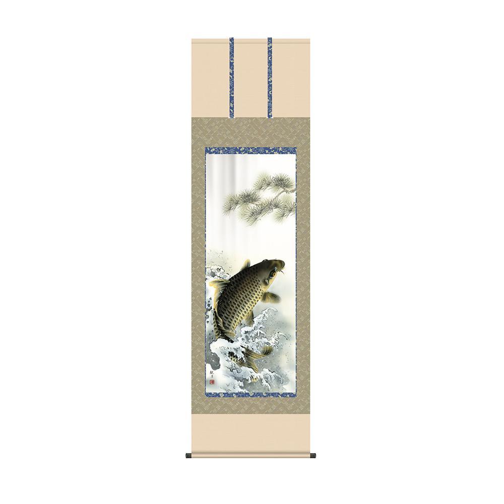 掛軸 森山観月「大昇鯉」 KZ2F4-047 54.5×190cm