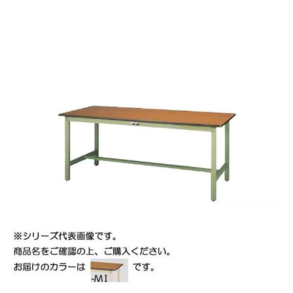 【同梱代引き不可】SWP-1875-MI+S3-IV ワークテーブル 300シリーズ 固定(H740mm)(3段(浅型W394mm)キャビネット付き)