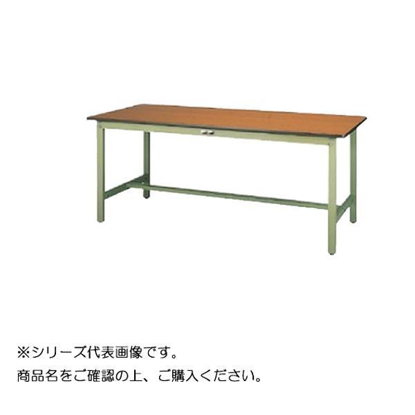 【同梱代引き不可】SWP-1560-MG+L1-G ワークテーブル 300シリーズ 固定(H740mm)(1段(浅型W500mm)キャビネット付き)