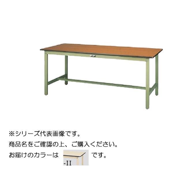 【同梱・代引き不可】 SWP-1890-II+L1-IV ワークテーブル 300シリーズ 固定(H740mm)(1段(浅型W500mm)キャビネット付き)