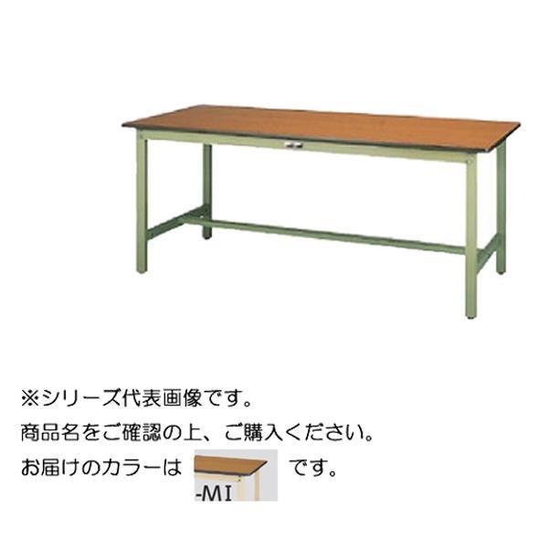 【同梱代引き不可】SWP-1575-MI+L1-IV ワークテーブル 300シリーズ 固定(H740mm)(1段(浅型W500mm)キャビネット付き)