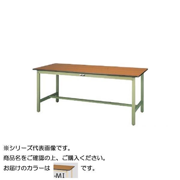 【同梱・代引き不可】 SWP-1860-MI+L2-IV ワークテーブル 300シリーズ 固定(H740mm)(2段(浅型W500mm)キャビネット付き)