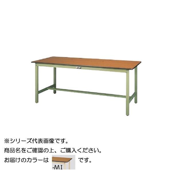 【同梱・代引き不可】 SWP-1890-MI+D1-IV ワークテーブル 300シリーズ 固定(H740mm)(1段(深型W500mm)キャビネット付き)