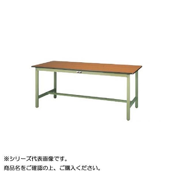 【同梱・代引き不可】 SWP-1275-MG+D2-G ワークテーブル 300シリーズ 固定(H740mm)(2段(深型W500mm)キャビネット付き)