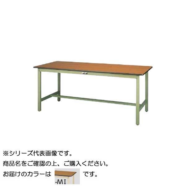 【同梱代引き不可】SWP-1875-MI+D2-IV ワークテーブル 300シリーズ 固定(H740mm)(2段(深型W500mm)キャビネット付き)