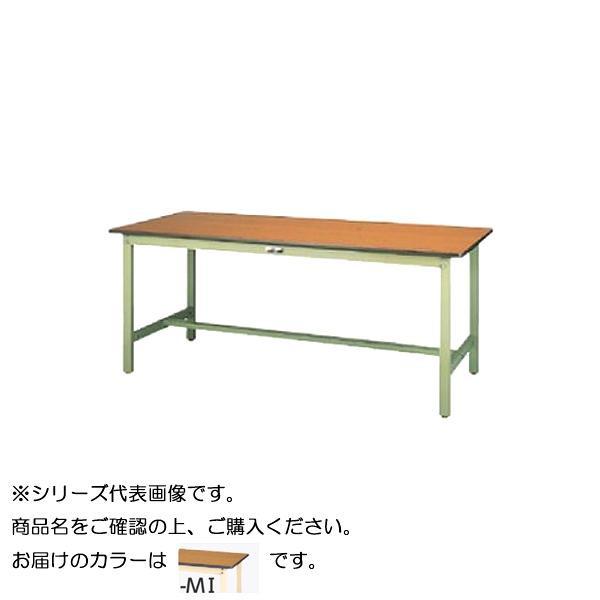 【同梱代引き不可】SWP-1590-MI+D3-IV ワークテーブル 300シリーズ 固定(H740mm)(3段(深型W500mm)キャビネット付き)