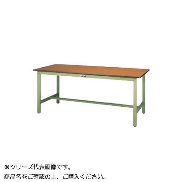 【同梱代引き不可】SWPH-1875-MG+S1-G ワークテーブル 300シリーズ 固定(H900mm)(1段(浅型W394mm)キャビネット付き)