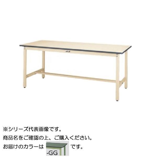 【同梱・代引き不可】 SWR-1875-GG+S2-G ワークテーブル 300シリーズ 固定(H740mm)(2段(浅型W394mm)キャビネット付き)