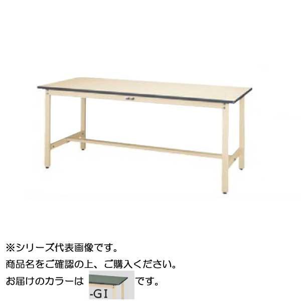 【同梱・代引き不可】 SWR-1260-GI+S2-IV ワークテーブル 300シリーズ 固定(H740mm)(2段(浅型W394mm)キャビネット付き)