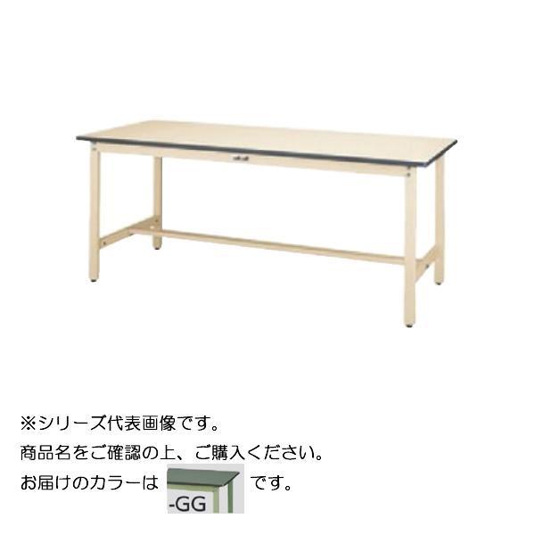 【同梱代引き不可】SWR-975-GG+L1-G ワークテーブル 300シリーズ 固定(H740mm)(1段(浅型W500mm)キャビネット付き)