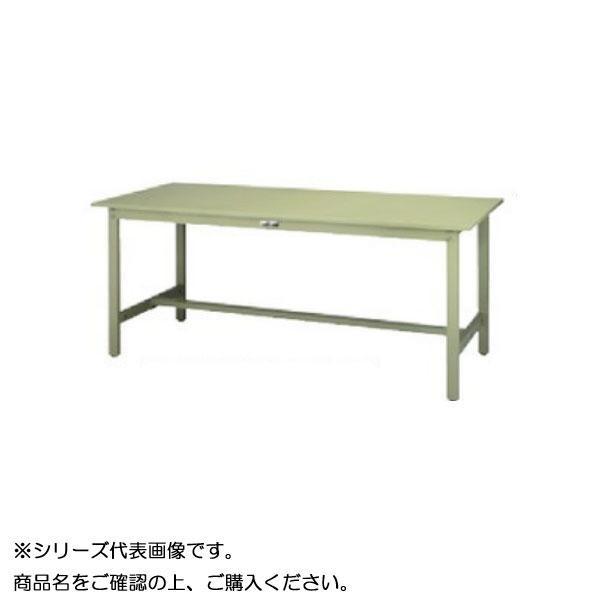【同梱代引き不可】SWS-1590-GG+L2-G ワークテーブル 300シリーズ 固定(H740mm)(2段(浅型W500mm)キャビネット付き)