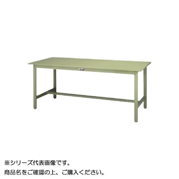 【同梱代引き不可】SWS-1575-GG+L2-G ワークテーブル 300シリーズ 固定(H740mm)(2段(浅型W500mm)キャビネット付き)