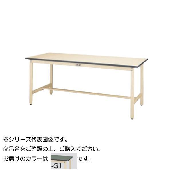 【同梱・代引き不可】 SWRH-1890-GI+L2-IV ワークテーブル 300シリーズ 固定(H900mm)(2段(浅型W500mm)キャビネット付き)