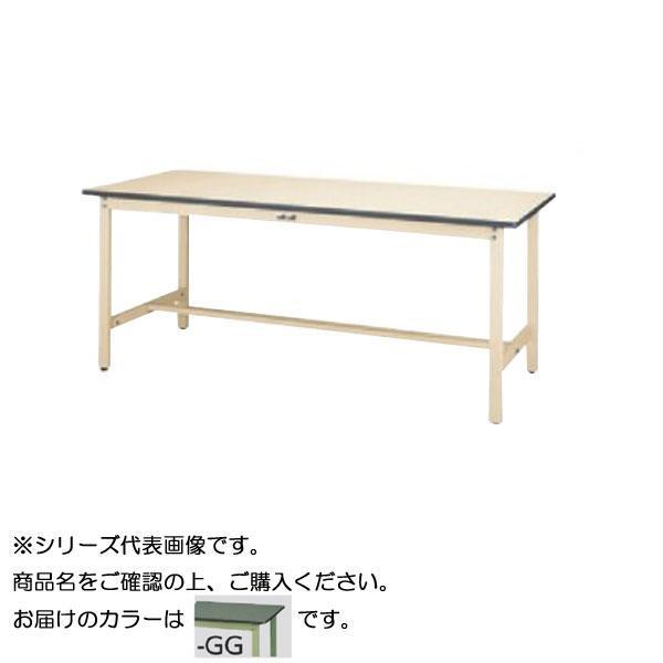 【同梱代引き不可】SWR-1560-GG+L3-G ワークテーブル 300シリーズ 固定(H740mm)(3段(浅型W500mm)キャビネット付き)