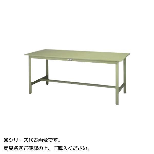 【同梱代引き不可】SWS-1575-GG+D1-G ワークテーブル 300シリーズ 固定(H740mm)(1段(深型W500mm)キャビネット付き)