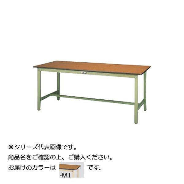 【同梱・代引き不可】 SWPH-975-MI+D1-IV ワークテーブル 300シリーズ 固定(H900mm)(1段(深型W500mm)キャビネット付き)