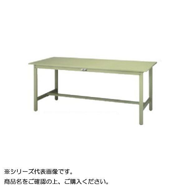 【同梱・代引き不可】 SWSH-1860-GG+D2-G ワークテーブル 300シリーズ 固定(H900mm)(2段(深型W500mm)キャビネット付き)