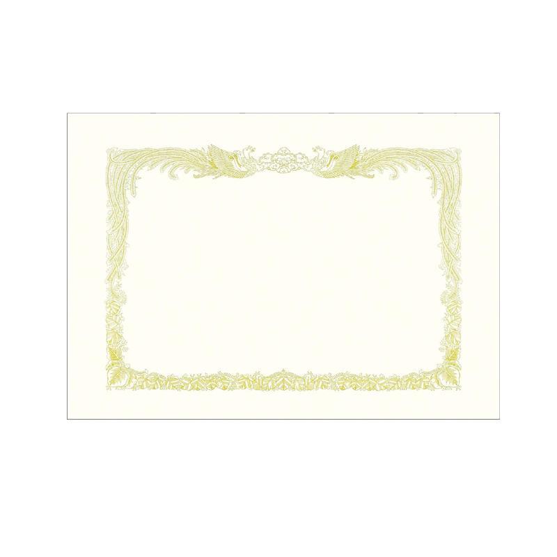 美しい「金粉」印刷を施した格調高い賞状用紙。 ササガワ タカ印 10-37 賞状用紙 ケント紙 B4縦書 100枚