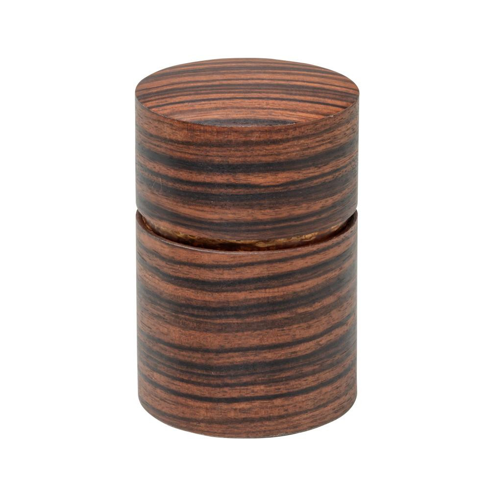 【同梱代引き不可】帯筒 茶筒(大) 黒檀柾目 39301