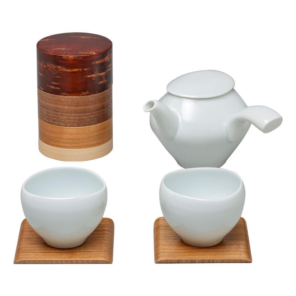 10%OFF 茶筒 コースター 急須 湯呑のギフトセット 38201 同梱 寒桜 代引き不可 セール商品