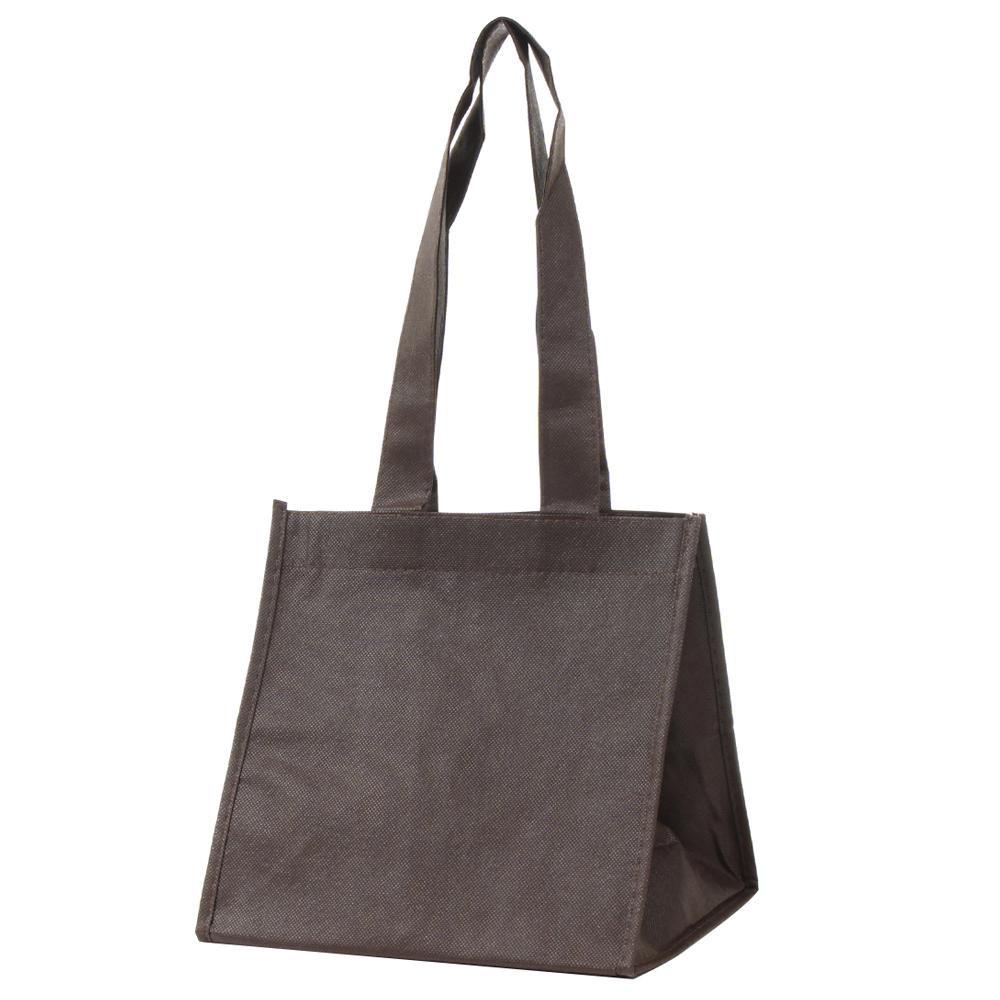【同梱代引き不可】パックタケヤマ 手提袋 SFバッグ ブラウンS 10枚ポリ×10束 XZV90716