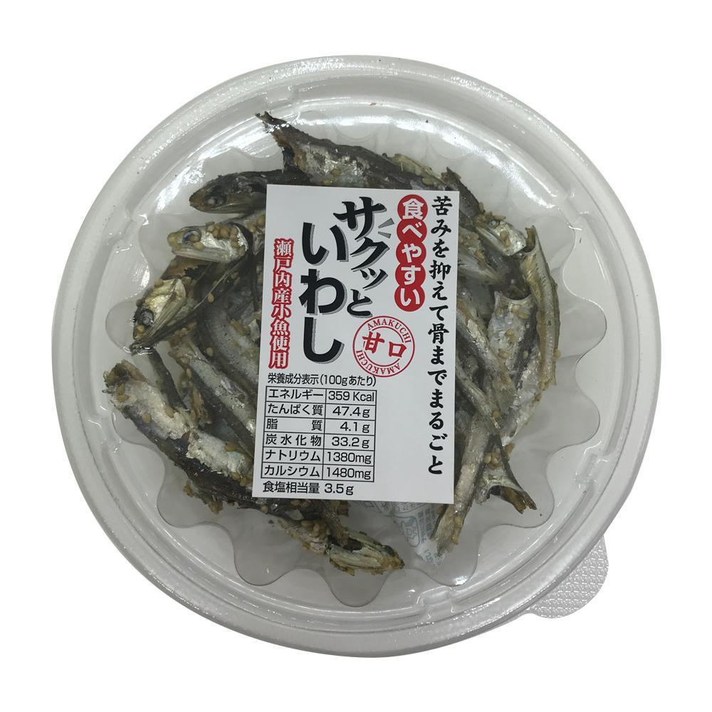 【同梱・代引き不可】 扇屋食品 サクッといわし(50g)×96個