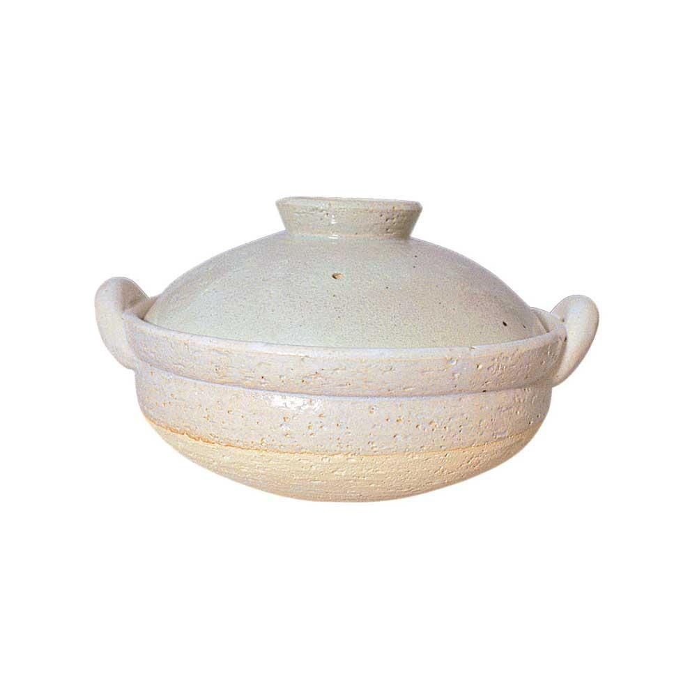 長谷園 ヘルシー蒸し鍋 白(大) 15711