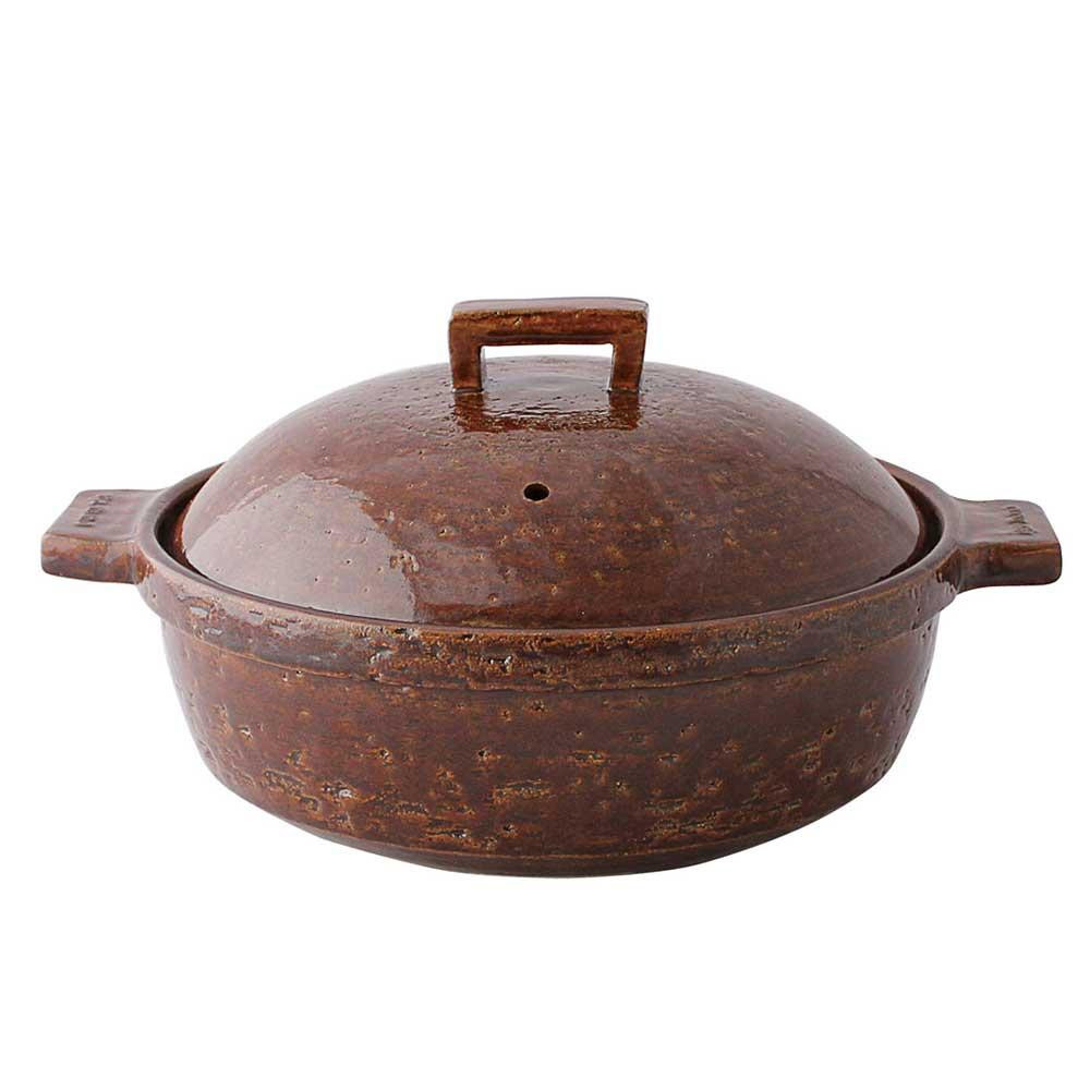 長谷園 ビストロ蒸し鍋 アメ (大) 15794