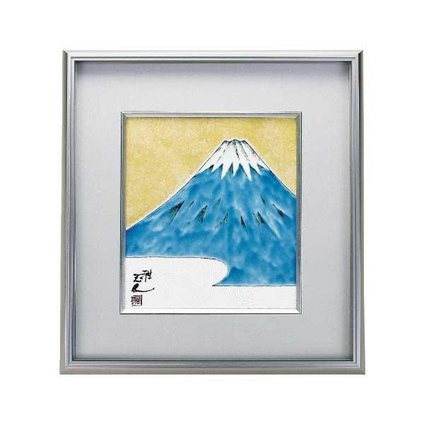 九谷焼 正人作 陶額 金彩富士 N184-07