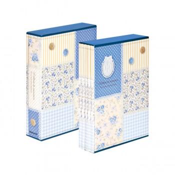 5冊セットのL判3段270枚収納アルバム ナカバヤシ 5冊組ポケットアルバム270枚 日本産 パッチワーク 5PL-270-31-B 未使用品 ブルー