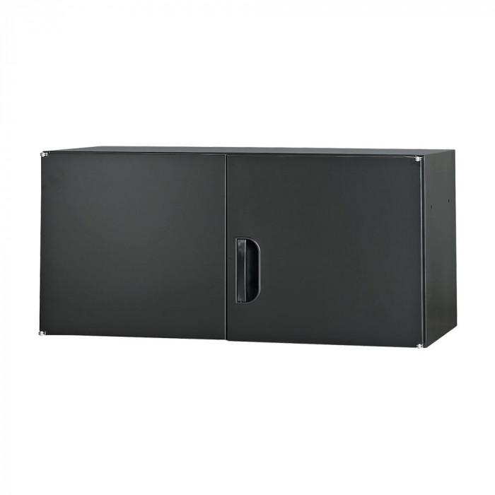壁面収納庫深型上置き棚H420 ブラック CN-10色(ブラック) HOS-U3-B 【同梱・代引き不可】 豊國工業