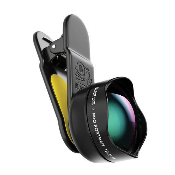 【同梱代引き不可】 BLACK EYE(ブラックアイ) スマホ用クリップ式レンズ PRO PORTRAIT TELE G4