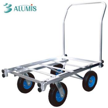 様々なサイズの荷物を載せられる優れもの 同梱 代引き不可 NEW ARRIVAL 記念日 アルミ四輪ハウスキャリーPUノーパンクタイヤ アルミス