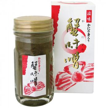 伝統の味、かにみそ マルヨ食品 滋味 かにの身入り蟹味噌(瓶・箱入) 70g×40個 01020