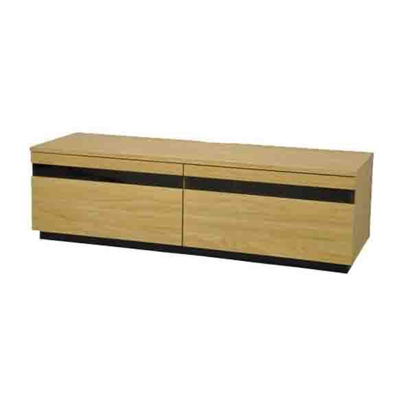 【同梱・代引き不可】TVboard BKガラススリット AVボード120 AV-BKG120 ナチュラル