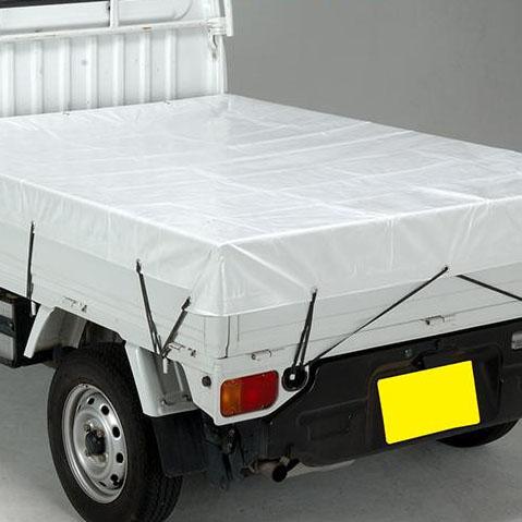 【同梱・代引き不可】萩原工業 遮熱シート スノートラックシート 1号軽トラック パールホワイト 10枚セット