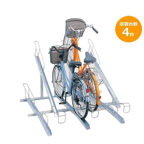 【同梱・代引き不可】ダイケン 自転車ラック サイクルスタンド KS-F284 4台用