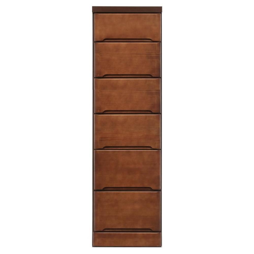 【同梱・代引き不可】クライン サイズが豊富なすきま収納チェスト ブラウン色 6段 幅35cm