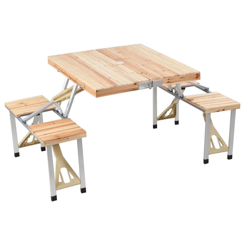 【同梱・代引き不可】簡単設置!コンパクト収納! STKコレクション テーブルチェアーセット STK1015