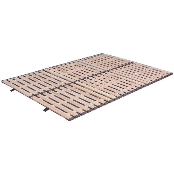 立ち上げ簡単! 軽量桐すのこベッド 3つ折れ式 ダブル KKT-410