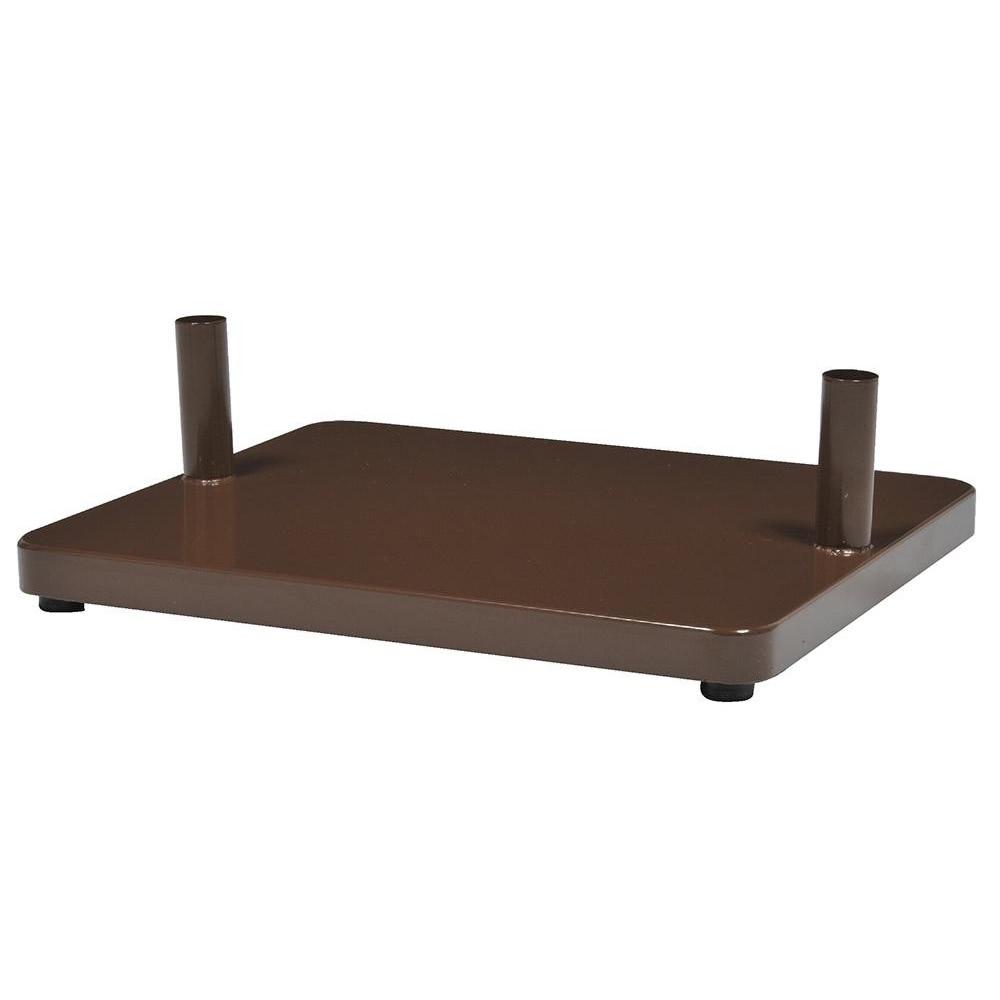 KGY セレクトカラーポスト アーチスタンド専用 自立ベース CH・チョコレート AB-1