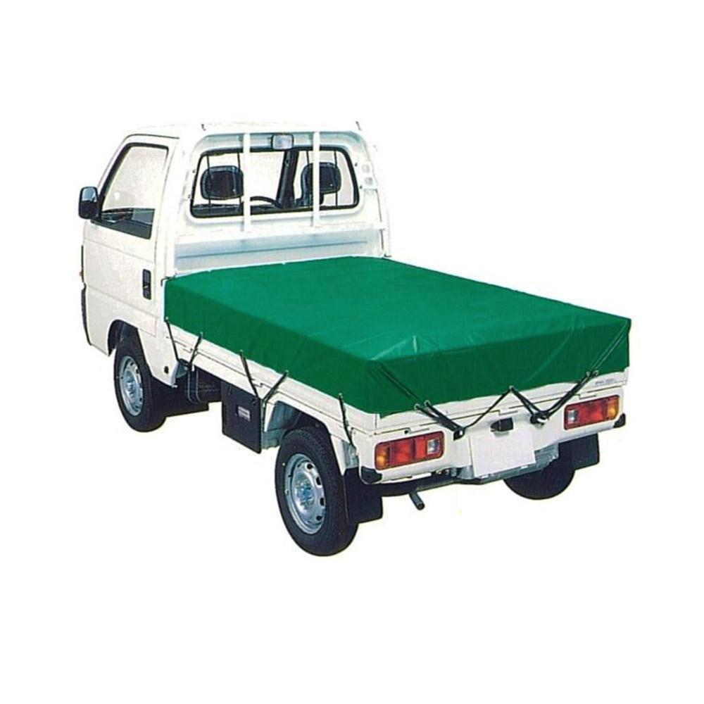 【同梱・代引き不可】萩原工業 エステル帆布トラックシート H-4号 3t・2tトラック グリーン 2.66m×4.6m
