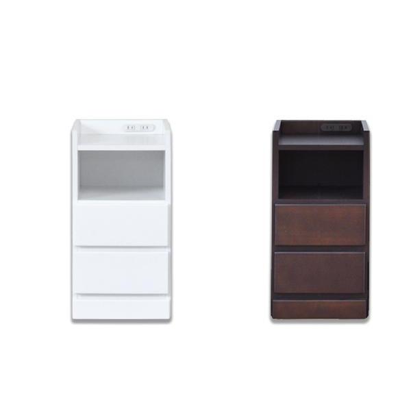 【同梱・代引き不可】ナイトテーブル エッセ W30