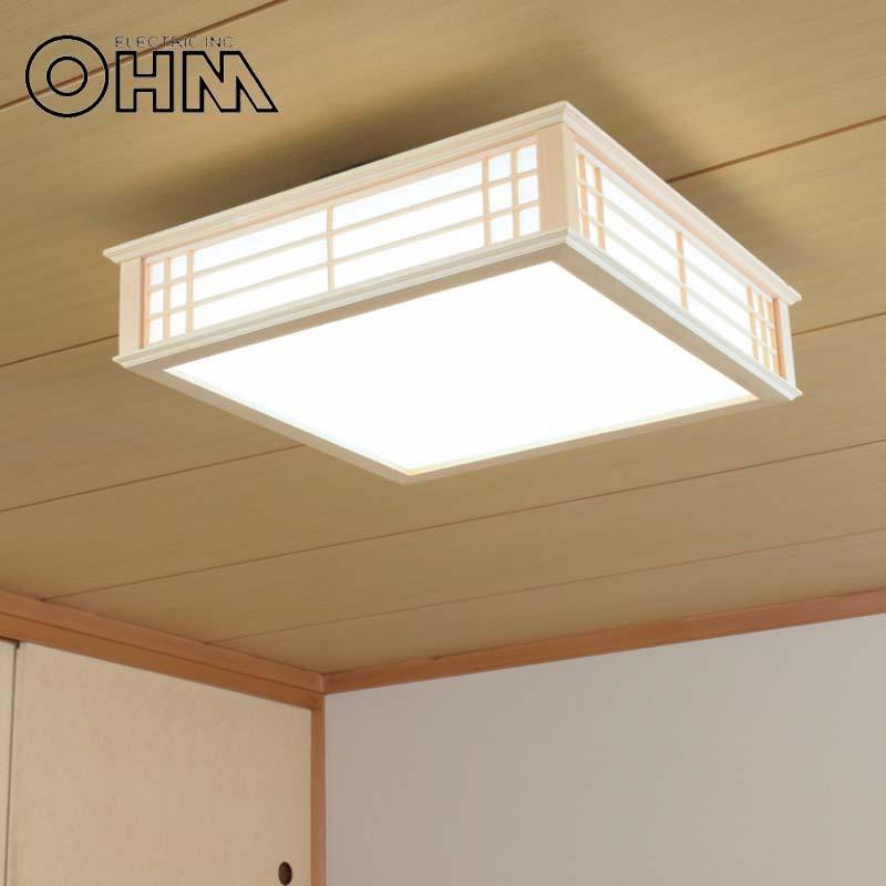 オーム電機 OHM LED和風シーリングライト 調光 8畳用 34W 昼光色 LE-W30D8K-K