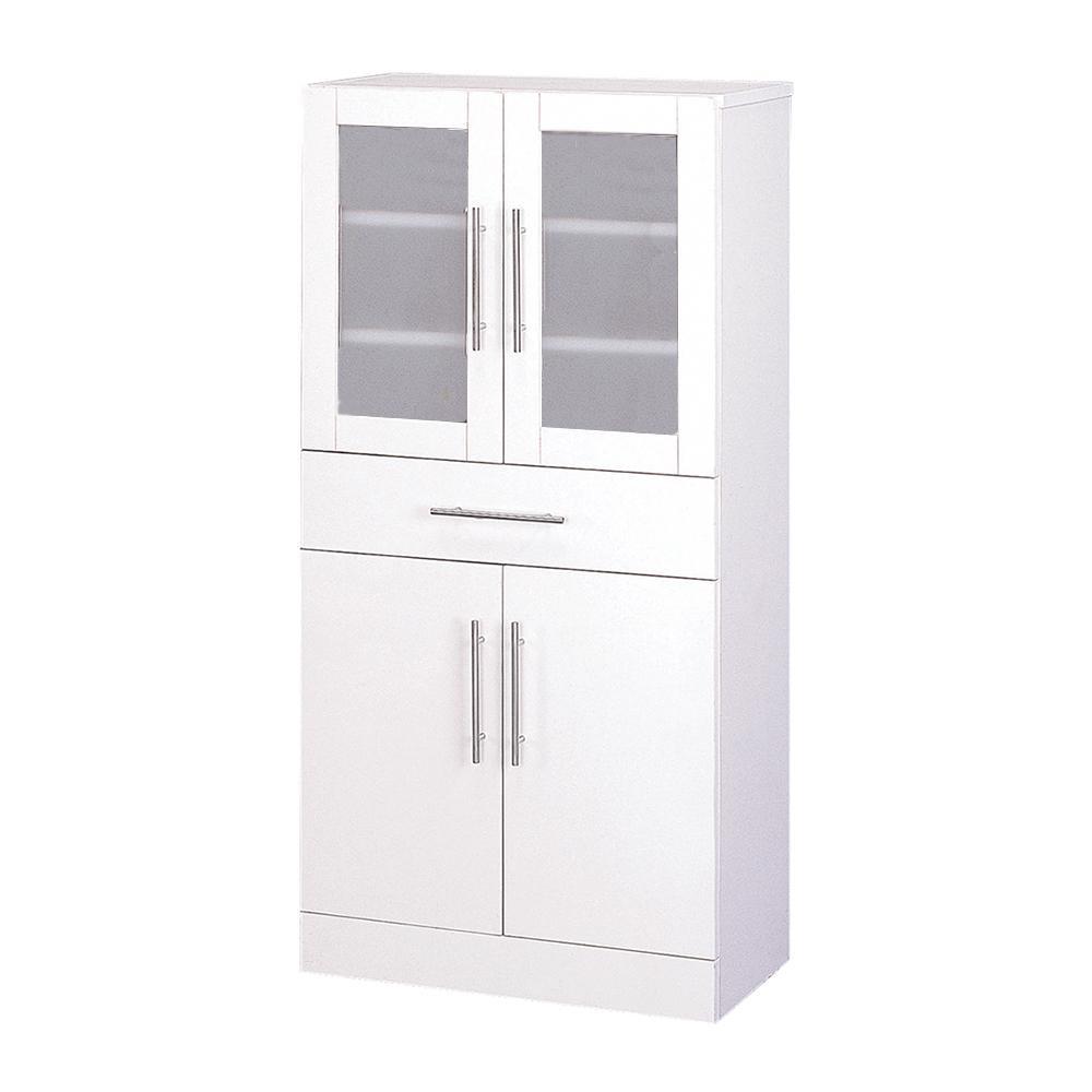 【同梱・代引き不可】カトレア 食器棚60-120 23463