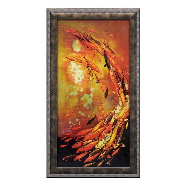ユーパワー アートフレーム リリー グリーンウッド 「コイ オン バイオレット」 LG-18002
