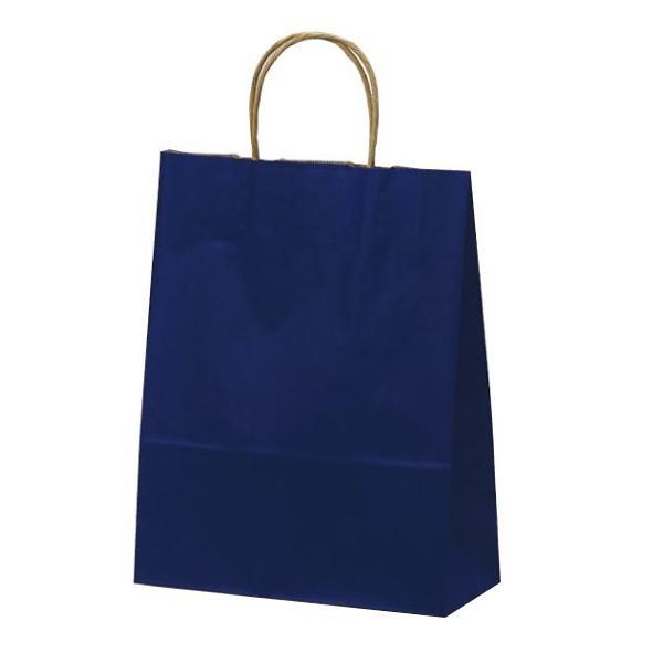 T-X 自動紐手提袋 紙袋 紙丸紐タイプ 260×110×330mm 200枚 カラー(紺) 1579