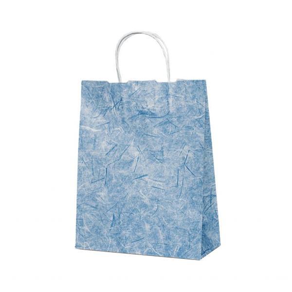 T-X 自動紐手提袋 紙袋 紙丸紐タイプ 260×110×330mm 200枚 彩流(紺) 1592