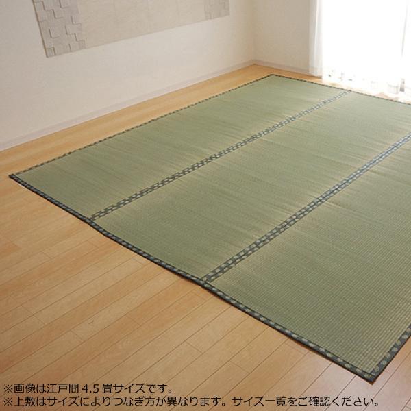 純国産 い草 上敷き カーペット 双目織 『松』 六一間6畳(約277×370cm) 1113366