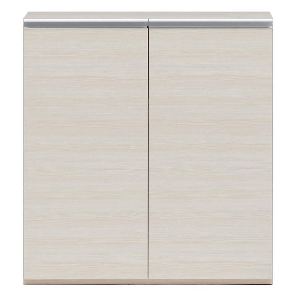 【同梱・代引き不可】 収納棚 戸棚 ホワイトウッド ECS-90L